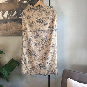 Talbots Midi Linen Blend Skirt